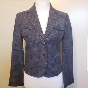 Zara | women's blue woven lined blazer